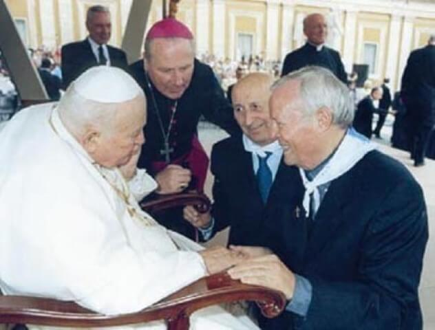 Padre Livio Radio Maria incontro Papa Giovanni Paolo II 2003