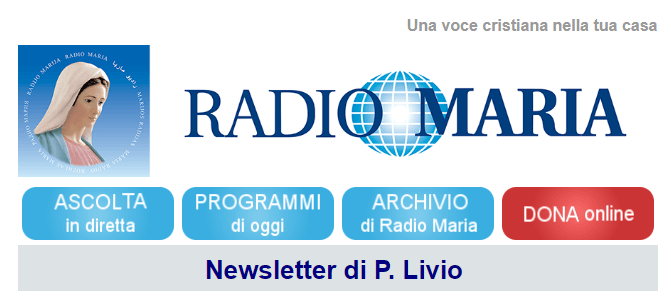 Newsletter Padre Livio radio Maria