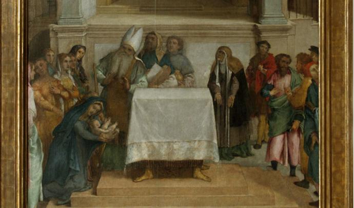 Lorenzo Lotto, Presentazione di Gesù al Tempio, Loreto - Palazzo Apostolico
