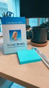 Calendario da tavolo 2021 Radio Maria