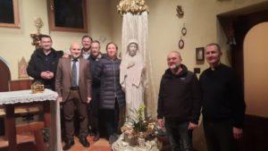 Foto di gruppo Marija di Medjugorje e il Presidente Vittorio Viccardi2