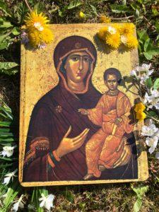 Icona Maria con Gesù bambino