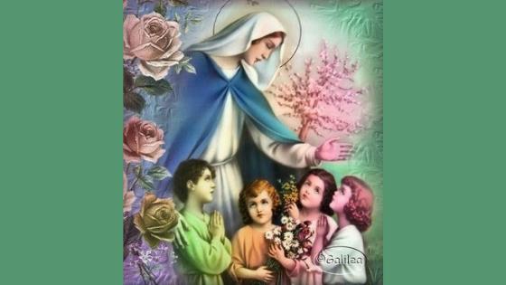 Maria con bambini