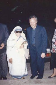 P. Livio con Madre Teresa di Calcutta
